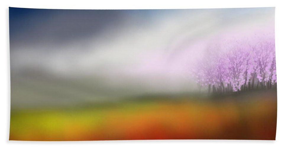 Spring Hand Towel featuring the painting Spring Always by Kume Bryant