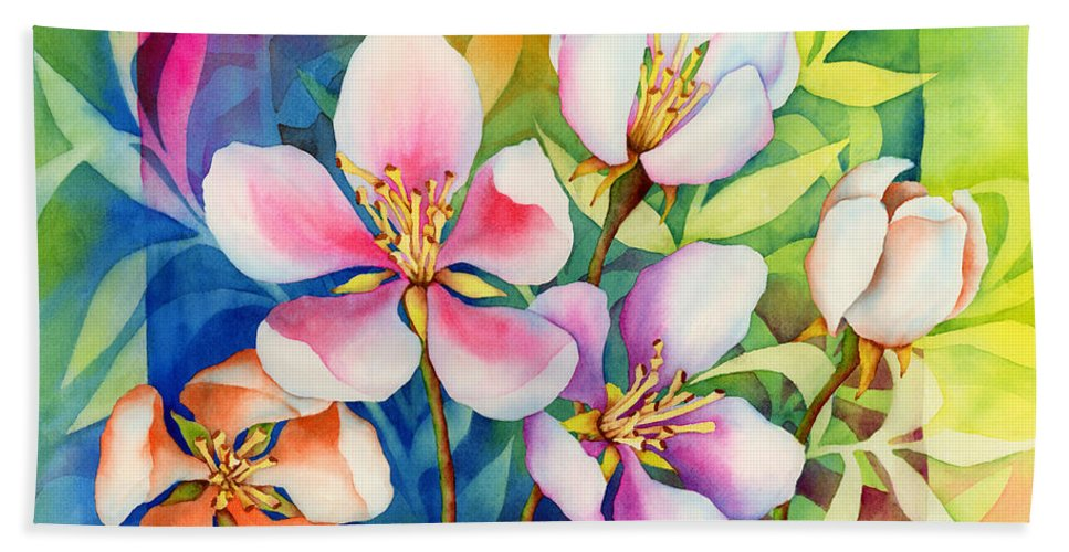 Flowers Bath Sheet featuring the painting Spring Ballerinas by Hailey E Herrera