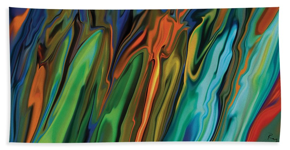 Nature Bath Sheet featuring the painting Spring Blossoms 2 by Rabi Khan
