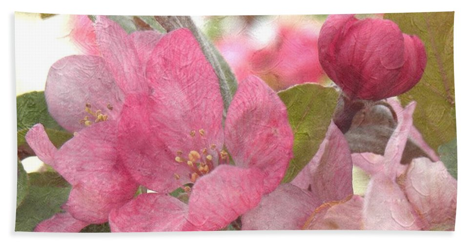 Blossoms Hand Towel featuring the photograph Spring Blossoms by Annie Adkins