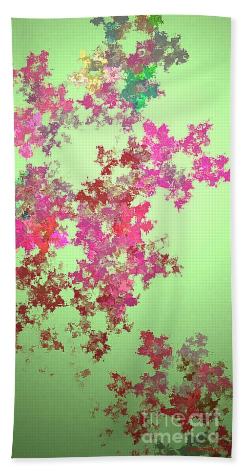 Digital Art Hand Towel featuring the painting Spring Bouquet by Tatjana Popovska