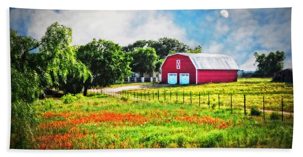 Spring Bath Sheet featuring the photograph Spring Charm In The Hill Country by Lynn Bauer