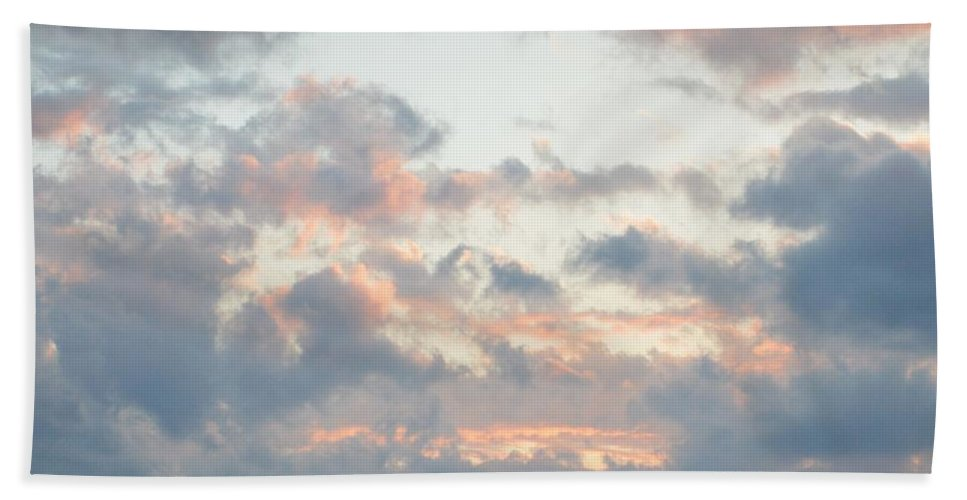 Clouds Bath Sheet featuring the photograph Spring Clouds by Thomas Phillips