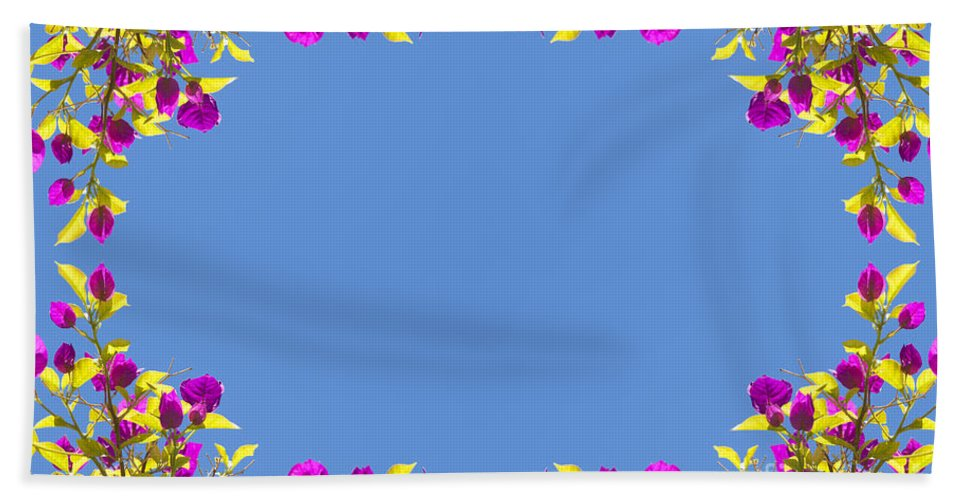 Tropical Bath Sheet featuring the photograph Spring Flower Frame by Tim Hester