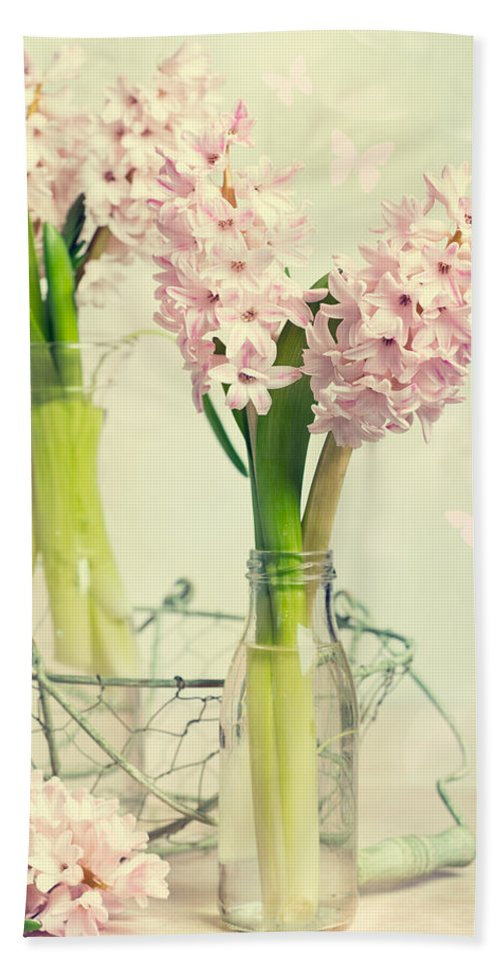 Hyacinth Hand Towel featuring the photograph Spring Hyacinths by Amanda Elwell
