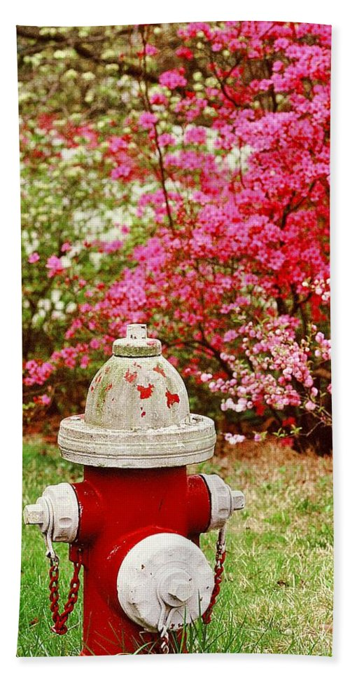 Fine Art Bath Sheet featuring the photograph Spring Hydrant by Rodney Lee Williams