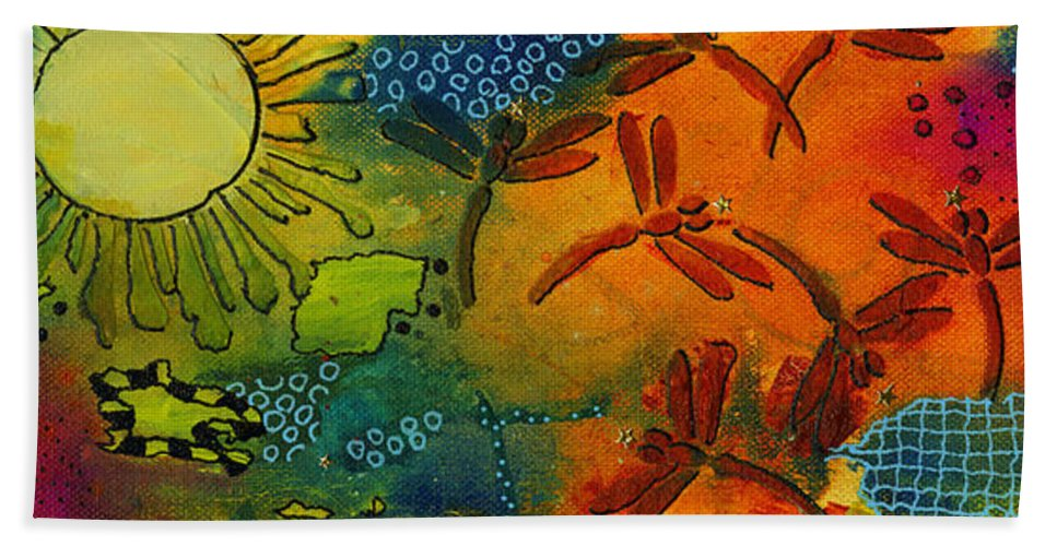 Mixed Media Hand Towel featuring the mixed media Spring In Full Effect by Angela L Walker