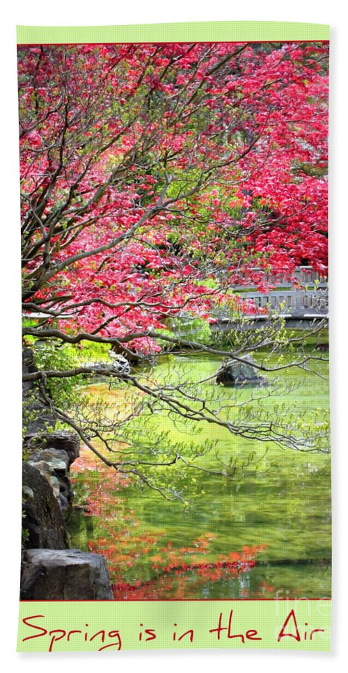 Japanese Garden Hand Towel featuring the photograph Spring Is In The Air by Carol Groenen