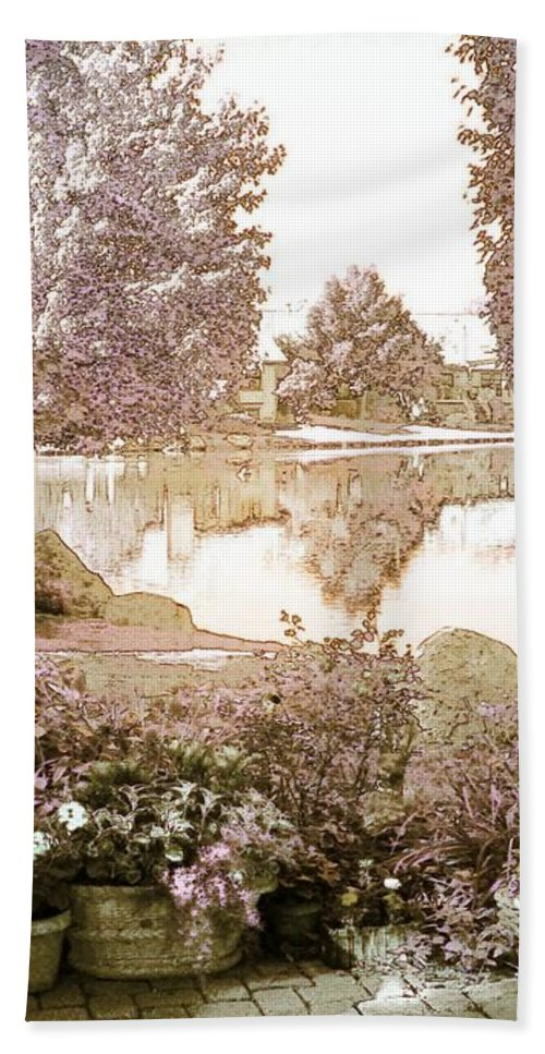 Spring Hand Towel featuring the photograph Spring Magical Fairyland Lake by Ellen Cannon