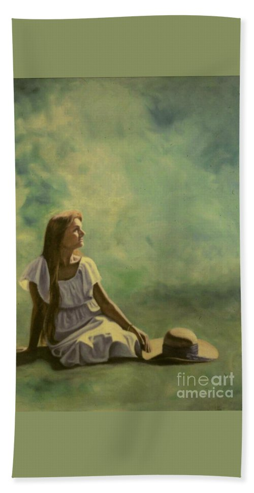 Figurative Hand Towel featuring the painting Spring by Michael John Cavanagh