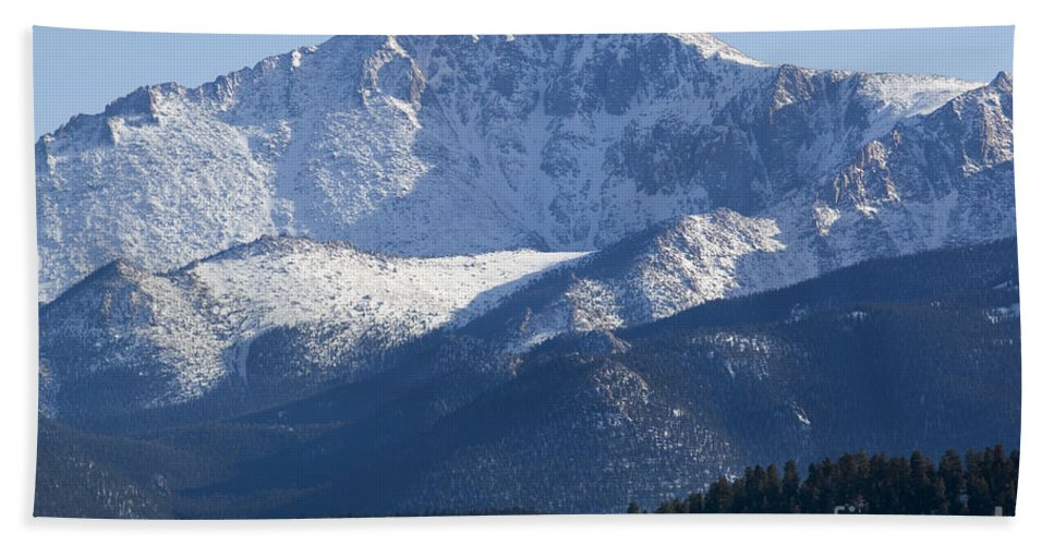 Colorado Springs Hand Towel featuring the photograph Spring Peak by Steve Krull