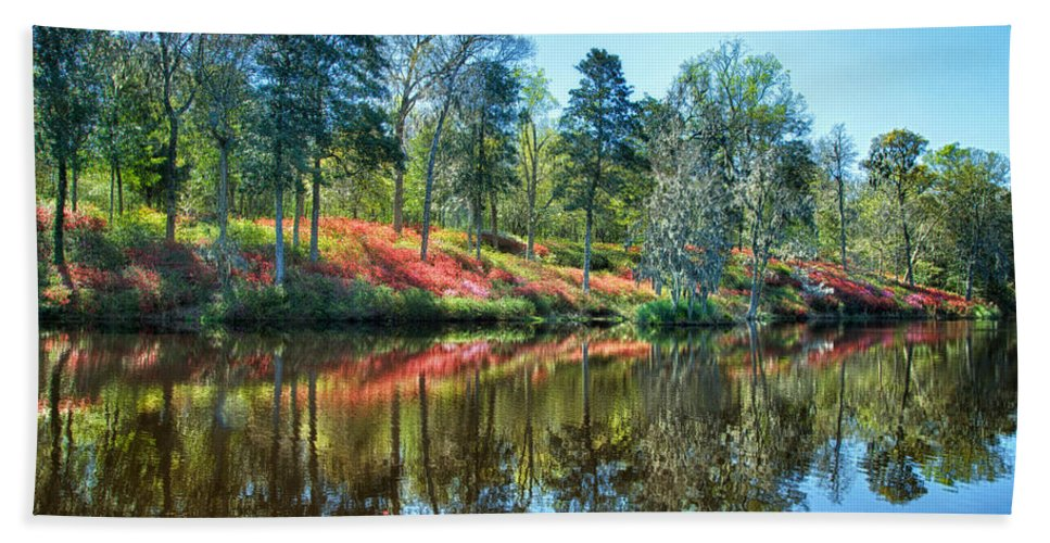 Spring Bath Sheet featuring the photograph Spring Reflections by Claudia Kuhn