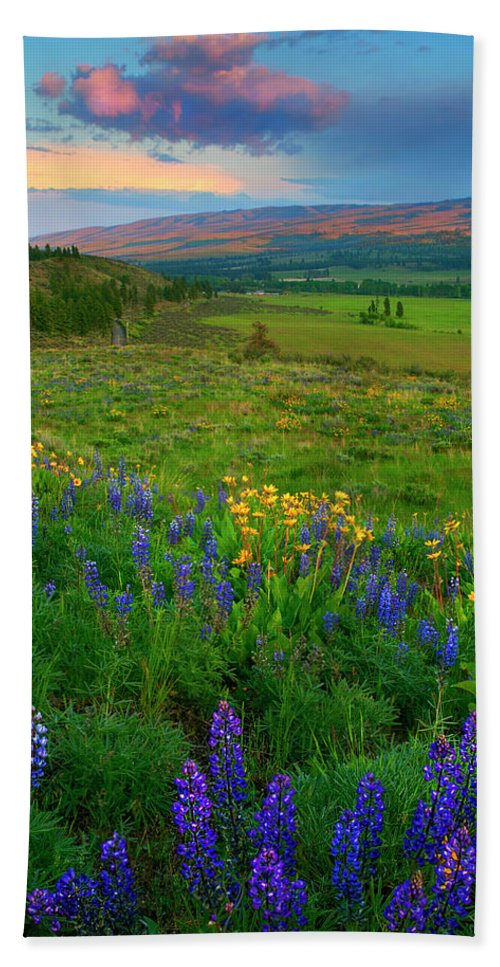Spring Storm Hand Towel featuring the photograph Spring Storm Passing by Mike Dawson