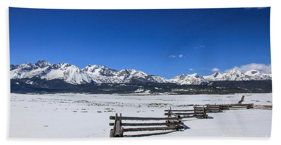 Rocky Mountains Bath Sheet featuring the photograph Spring View Of The Sawtooth Mountains by Robert Bales