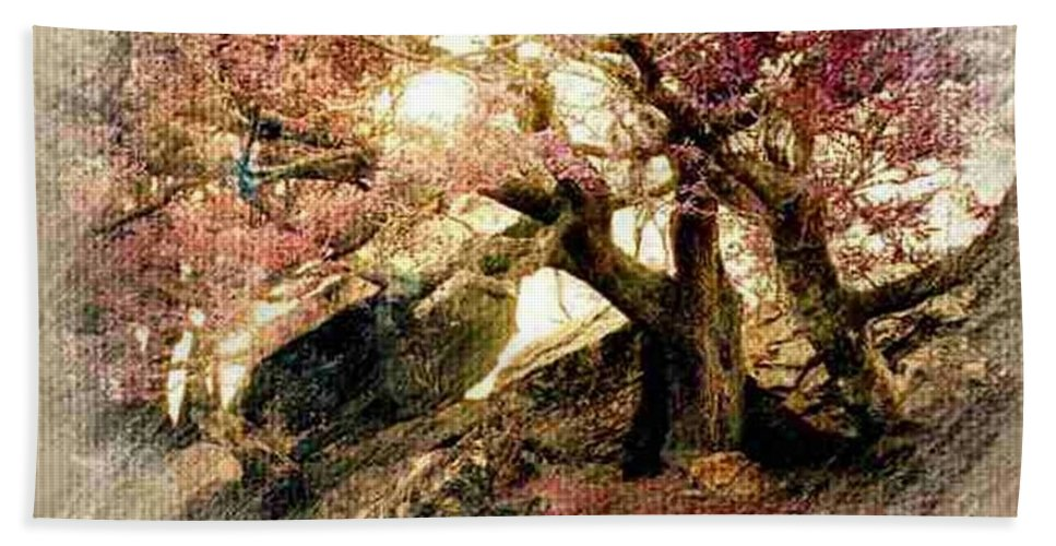 Ireland Hand Towel featuring the photograph Springtime Hidaway by Ellen Cannon