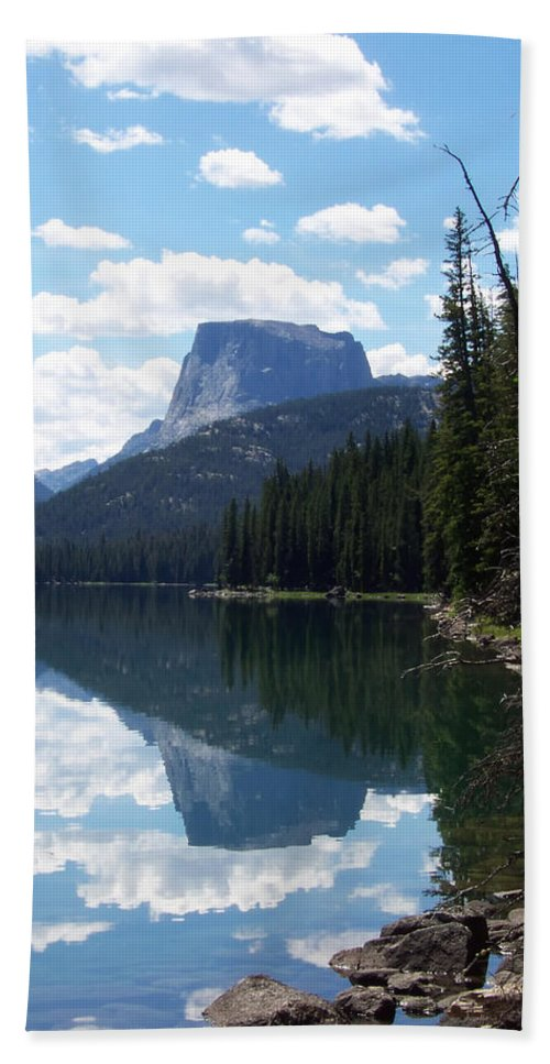 Wind River Range Hand Towel featuring the photograph Square Top by Gary Benson