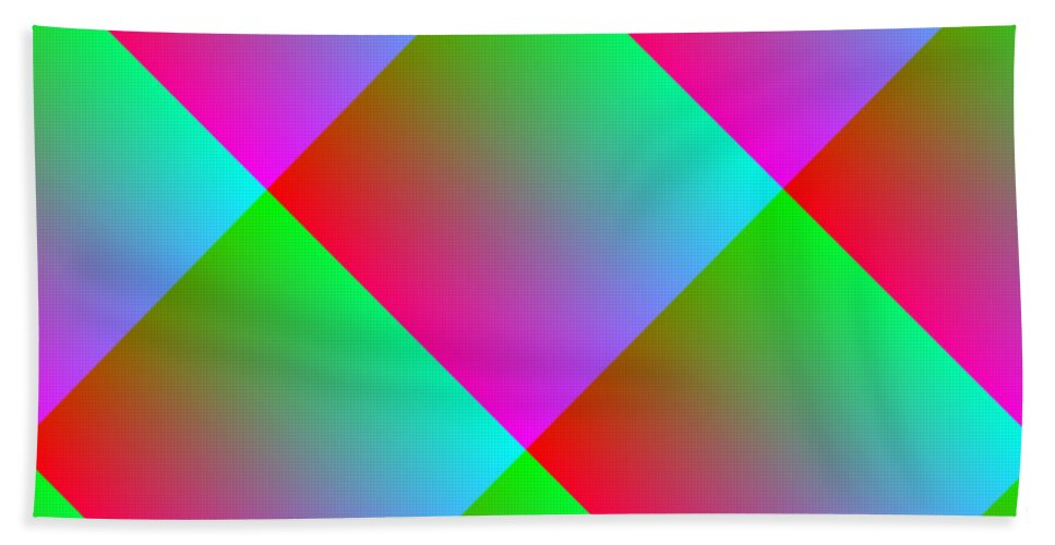 Pink Bath Sheet featuring the digital art Squared by Cassie Peters