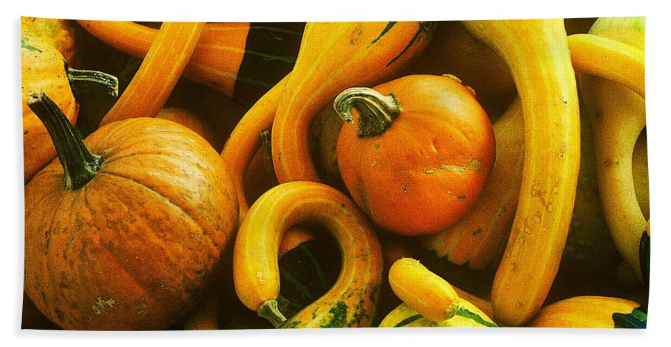 Fine Art Bath Sheet featuring the photograph Squash by Rodney Lee Williams