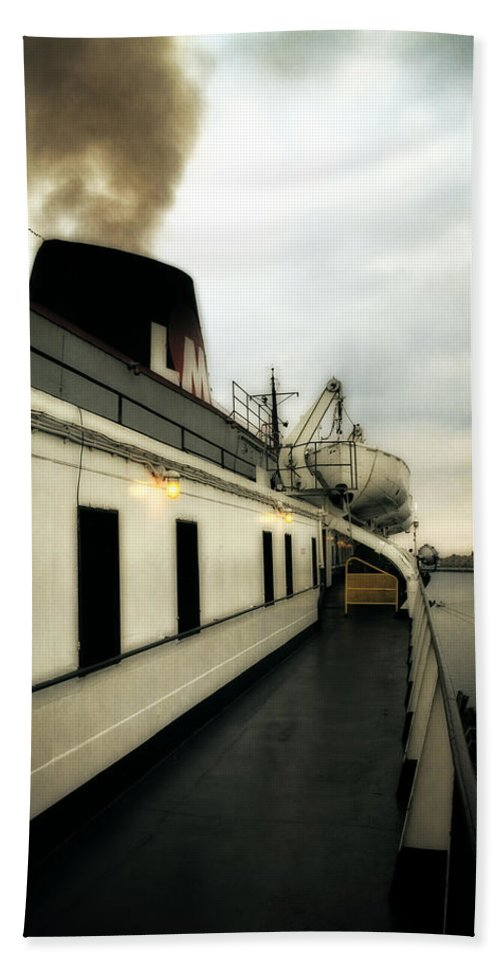 Boat Hand Towel featuring the photograph S.s. Badger Car Ferry by Michelle Calkins