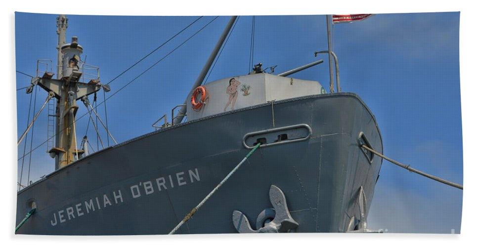 Ss Jeremiah O'brien Hand Towel featuring the photograph Ss Jeremiah O'brien -3 by Tommy Anderson