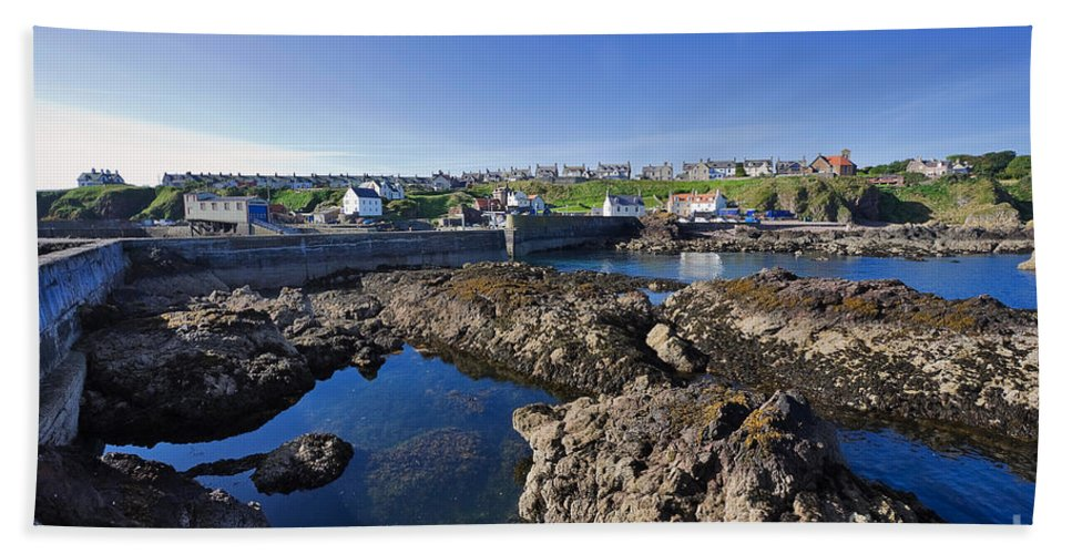 Travel Bath Sheet featuring the photograph St Abbs Scotland by Louise Heusinkveld