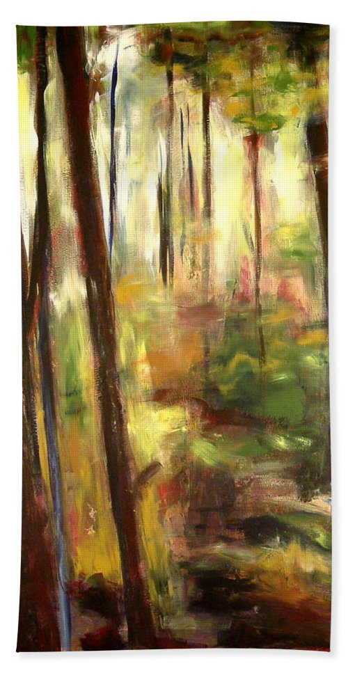 Tree Hand Towel featuring the painting St. Agatha View by Sheila Diemert