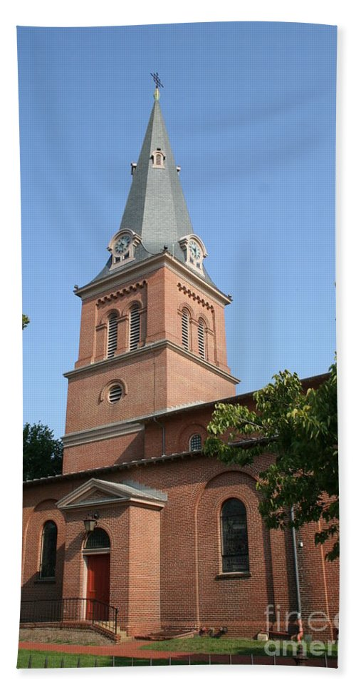 Church Hand Towel featuring the photograph St. Anne's Episcopal Church by Christiane Schulze Art And Photography