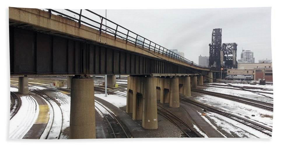 Street Art Hand Towel featuring the photograph St. Charles Airline Bridge by Zac AlleyWalker Lowing