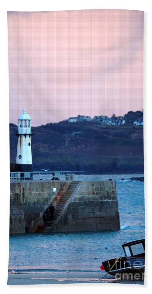 St Ives Bath Sheet featuring the photograph St Ives by Jenny Potter
