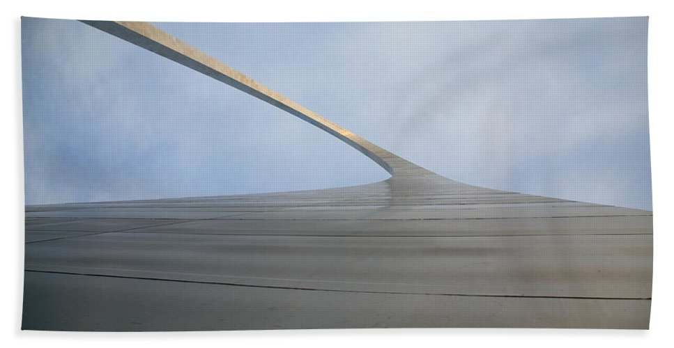 66 Bath Sheet featuring the photograph St. Louis - Gateway Arch 4 by Frank Romeo