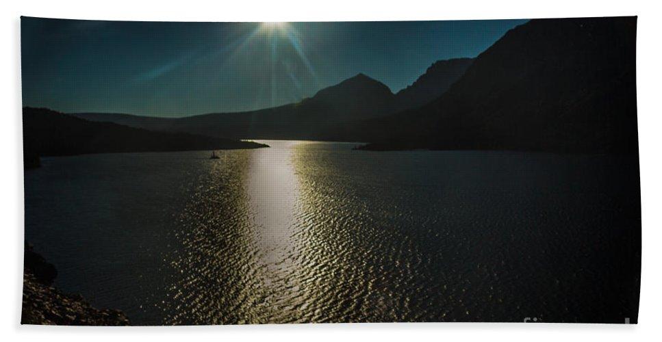 Lake Bath Sheet featuring the photograph St Mary Lake by Robert Bales