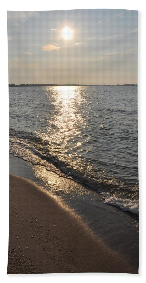 St Marys County Sunrise Hand Towel featuring the photograph St Marys County Sunrise by Bill Cannon