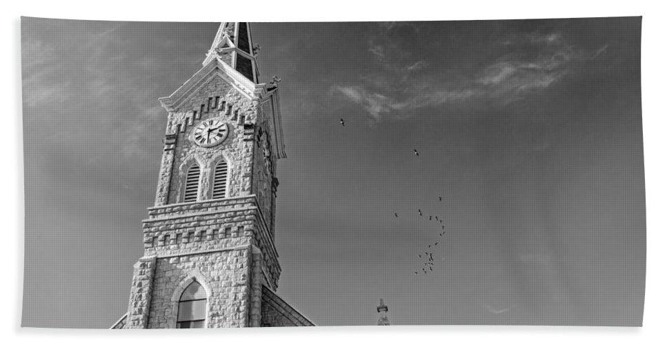 St. Mary's Hand Towel featuring the photograph St. Mary's - Port Washington 6 by Susan McMenamin