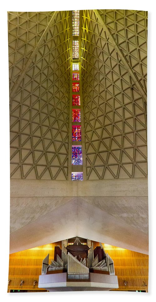 Church Bath Sheet featuring the photograph St Mary's San Francisco by Jenny Setchell