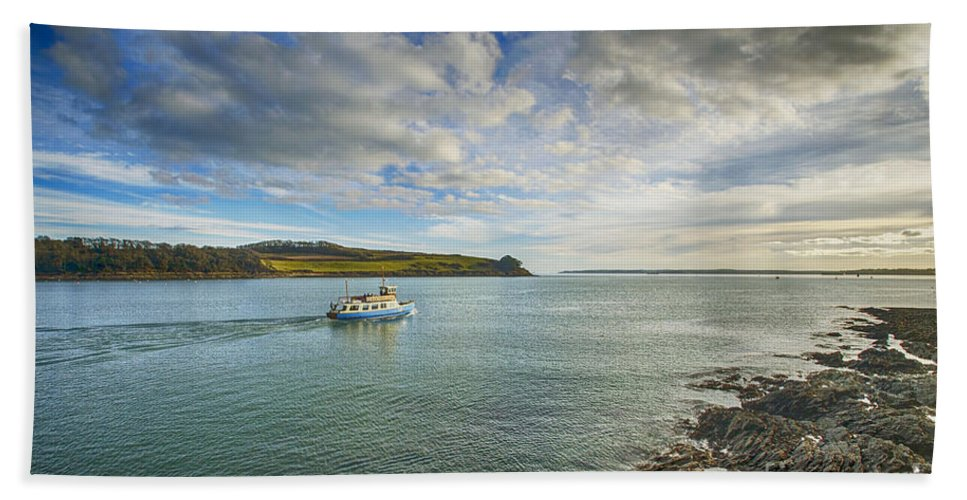 Cornwall Canvas Cornwall Prints Hand Towel featuring the photograph St Mawes Ferry Duchess Of Cornwall by Chris Thaxter