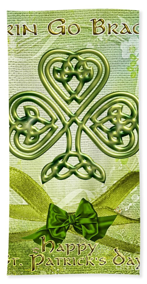 St. Patty's Hand Towel featuring the digital art St. Patty's by Mo T