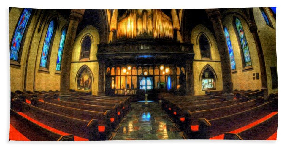 St. Paul's Episcopal Church Hand Towel featuring the photograph St. Pauls Episcopal Church 01 by Michael Frank Jr