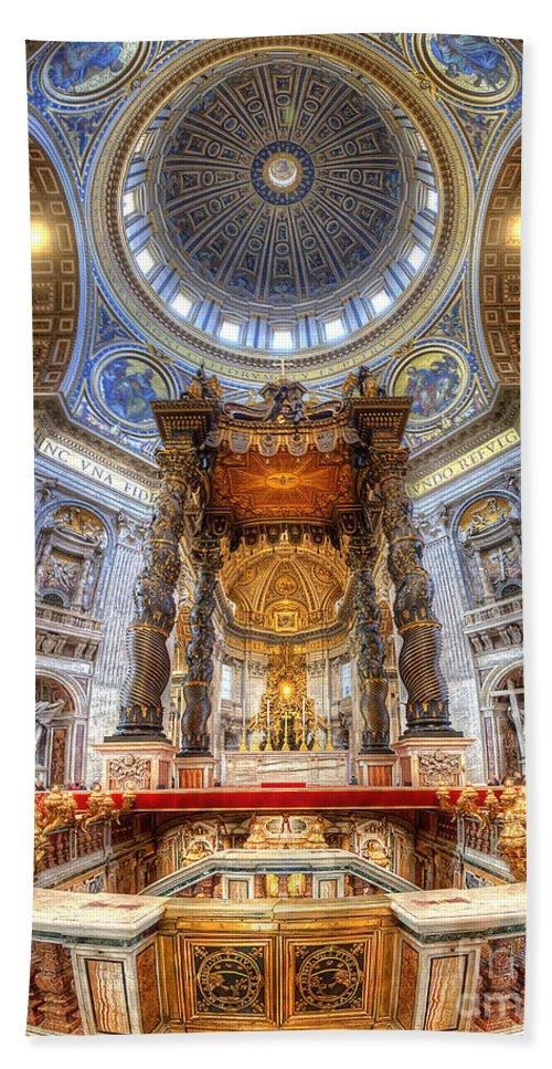 Yhun Suarez Hand Towel featuring the photograph St Peter's Basilica by Yhun Suarez