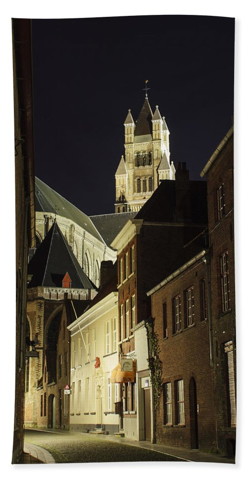 3scape Bath Sheet featuring the photograph St Saviour Cathedral by Adam Romanowicz