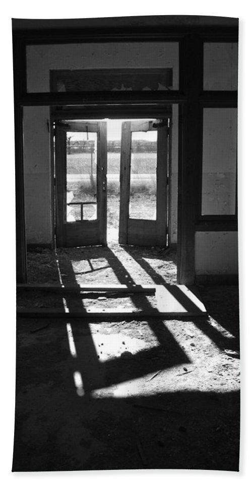 St. X Doorway Hand Towel featuring the photograph St X School Doorway by Lance Wurst