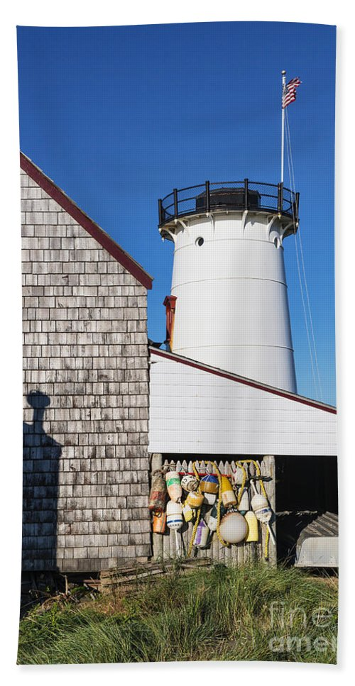 Cape Cod Bath Sheet featuring the photograph Stage Harbor Light by John Greim