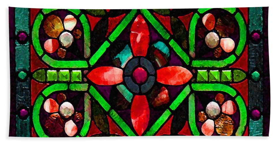 Stained Glass Bath Sheet featuring the photograph Stained Glass 2 by Timothy Bulone