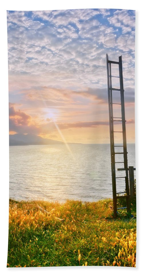 Heaven Bath Sheet featuring the photograph Stairway To Heaven by Mikel Martinez de Osaba