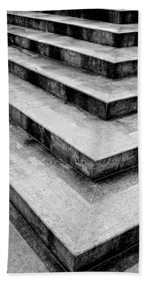 Concrete Bath Sheet featuring the photograph Stairway To Nowhere by Donna Blackhall