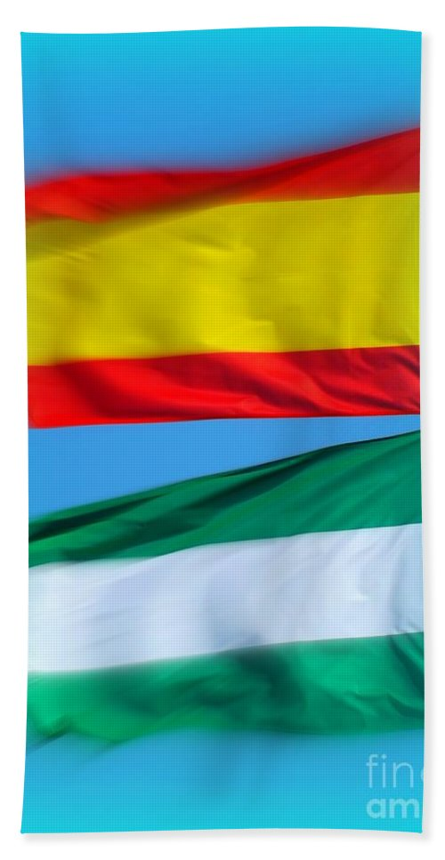 Flag Hand Towel featuring the photograph Stand Proud by Clare Bevan