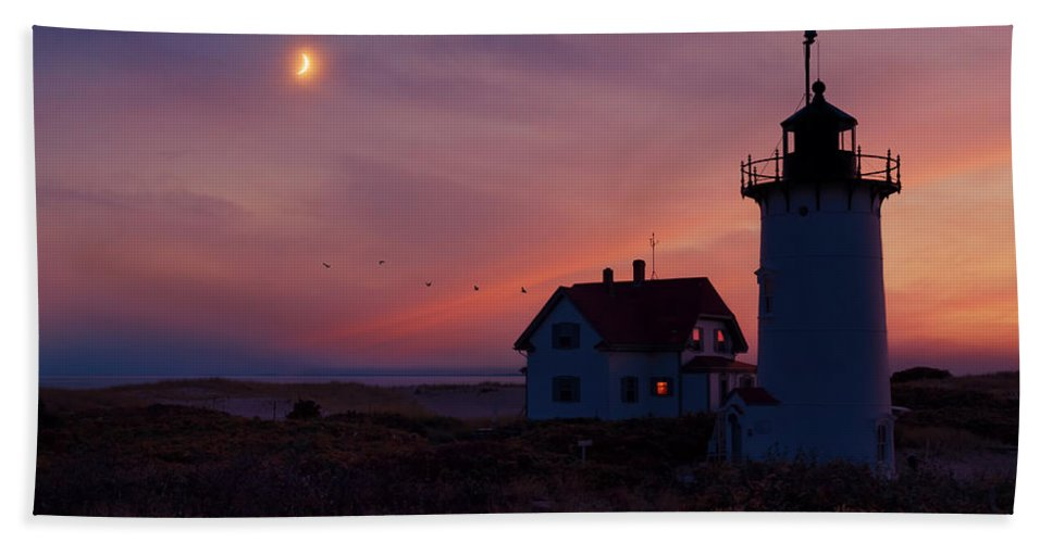 Race Point Light Hand Towel featuring the photograph Standing Guard by Bill Wakeley