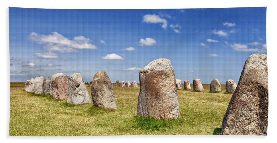 Standing Bath Sheet featuring the photograph Standing Stones by Sophie McAulay