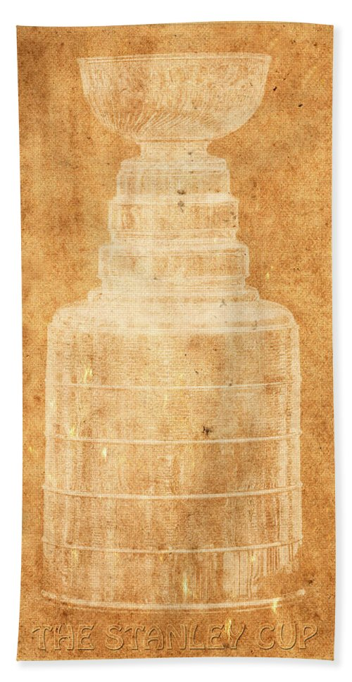 Hockey Hand Towel featuring the photograph Stanley Cup 1a by Andrew Fare