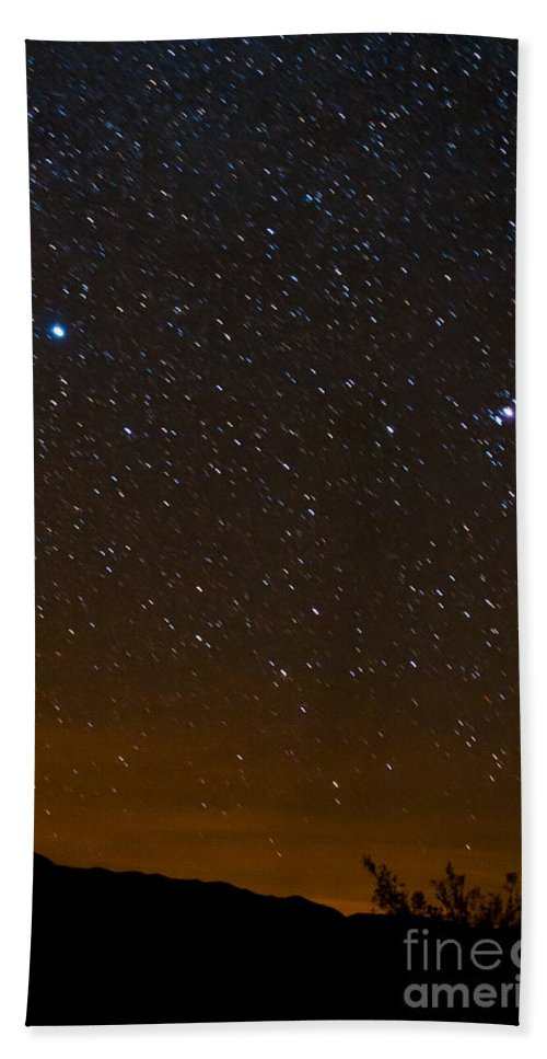 Death Valley National Park Hand Towel featuring the photograph Star Light - Star Bright by Bob Phillips