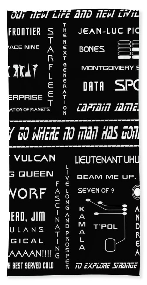Star Trek Bath Sheet featuring the digital art Star Trek Remembered by Georgia Fowler